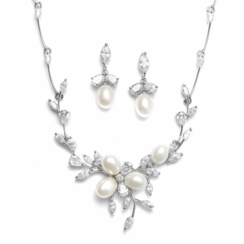 Bridal jewellery sets pearl-necklace-set-laila-freshwater-pearl-necklace-earrings-125