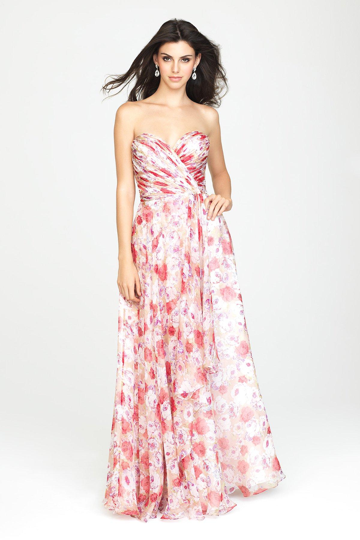 floral bridesmaid dresses Allure 1436F