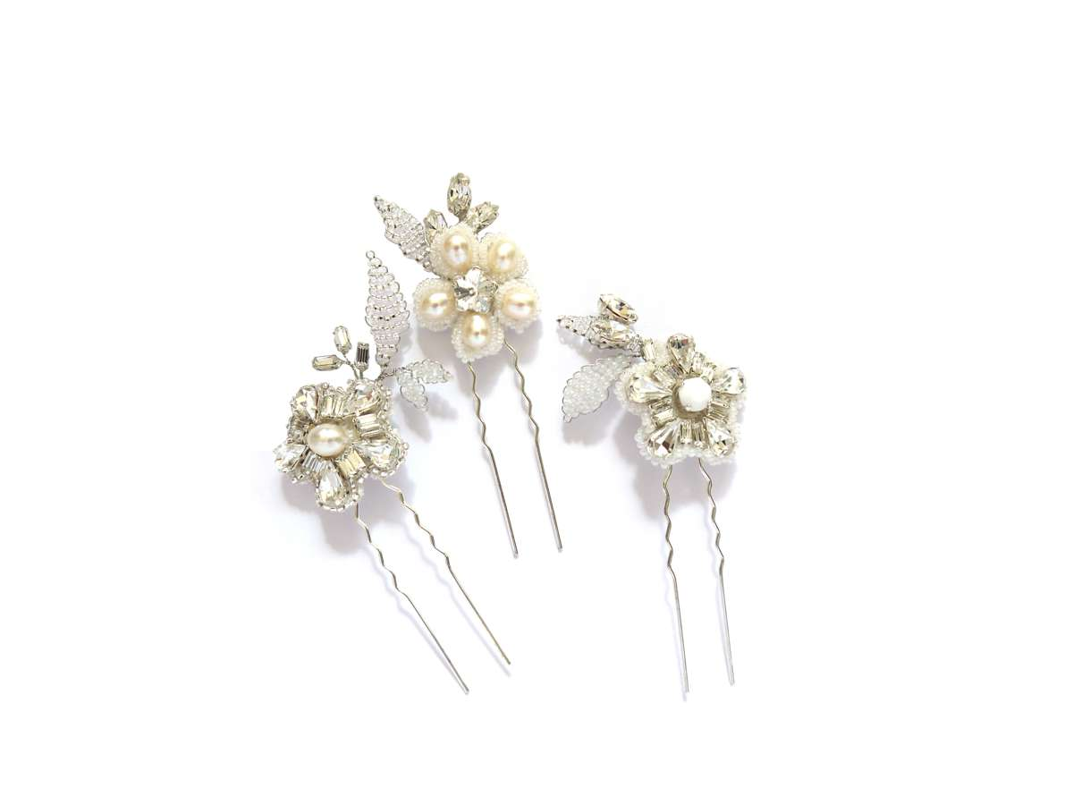 Geranium Hairpins LaurelLime.com £115.00 2