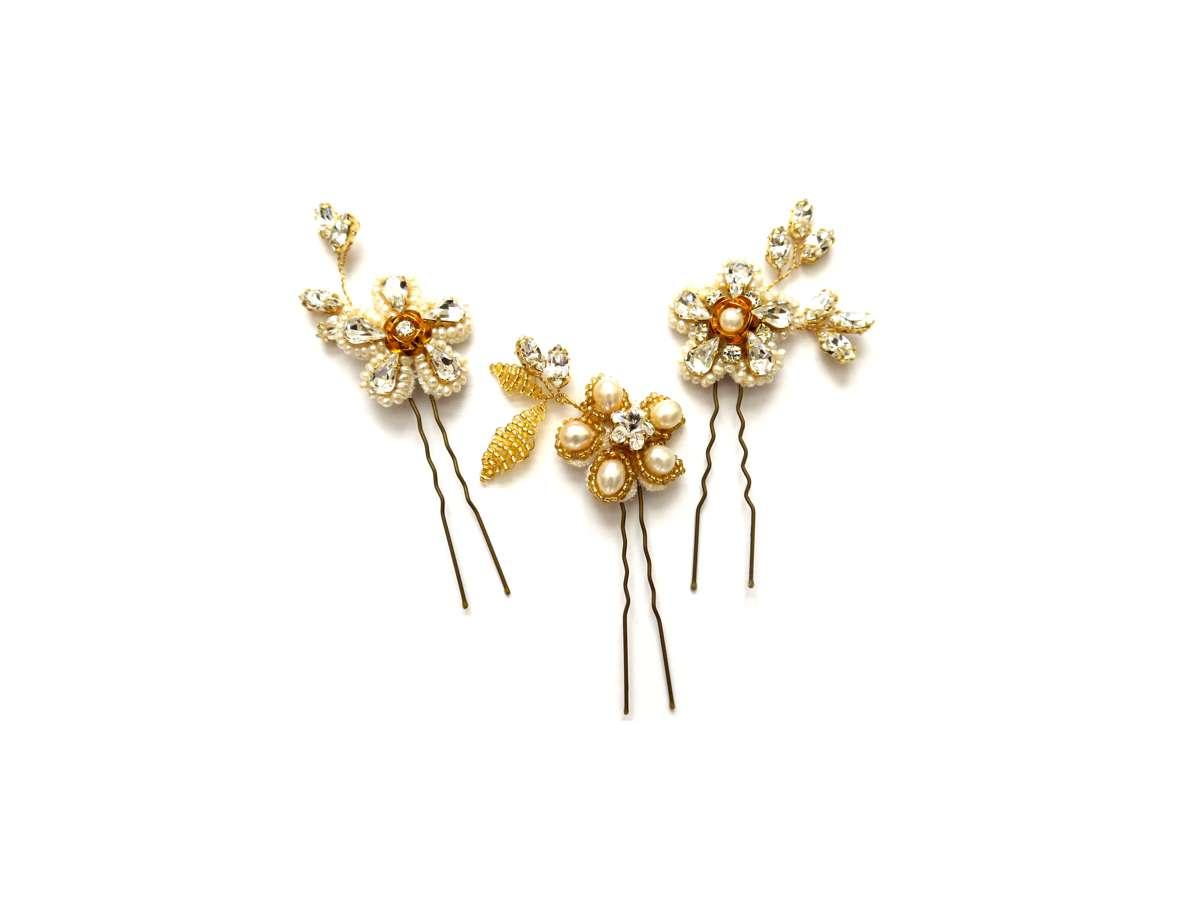 Geranium Hairpins LaurelLime.com £115.00