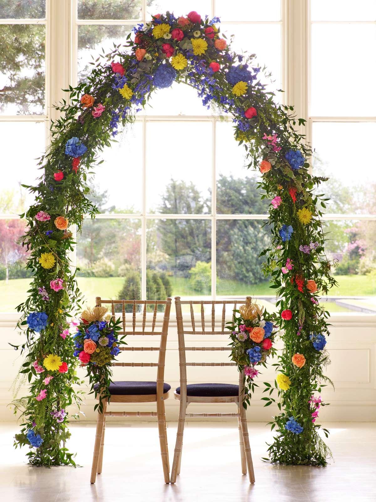 Interflora Wedding Inspired Shoot - Summer Flowers (Decor) (Ceremony) (Floral Arch) (4)
