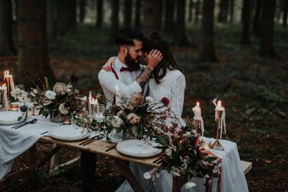 natural outdoors wedding