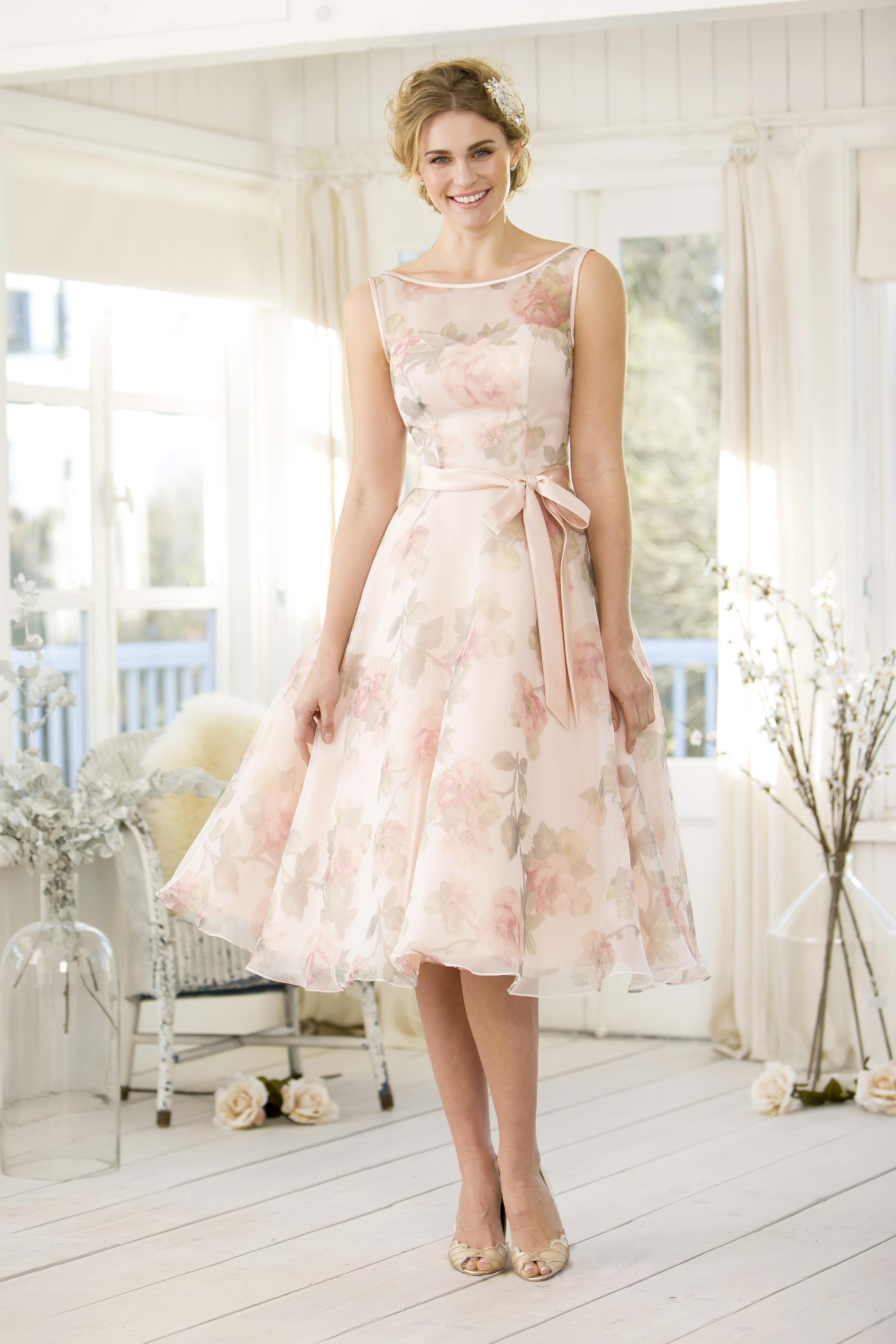 floral bridesmaid dresses true bride M101(1)