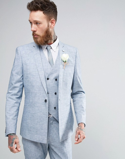 Blue wedding suits for grooms - Love Our Wedding
