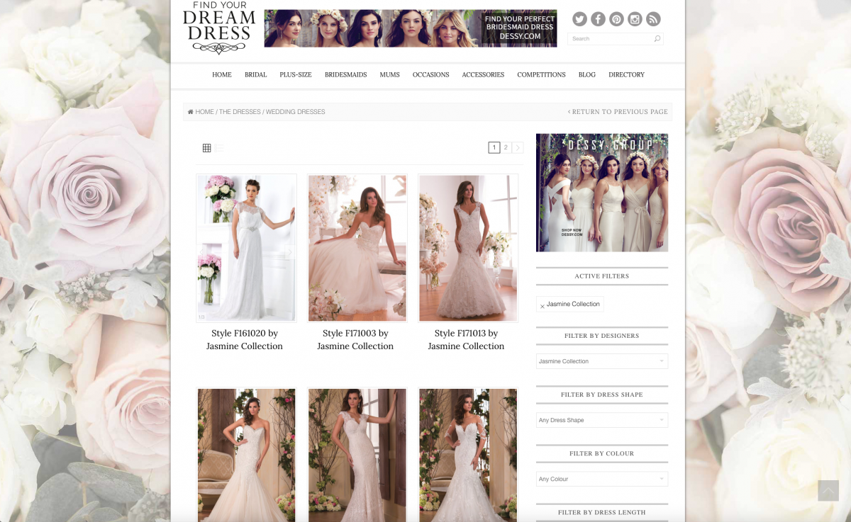 Find Your Dream Dress Bridal Search