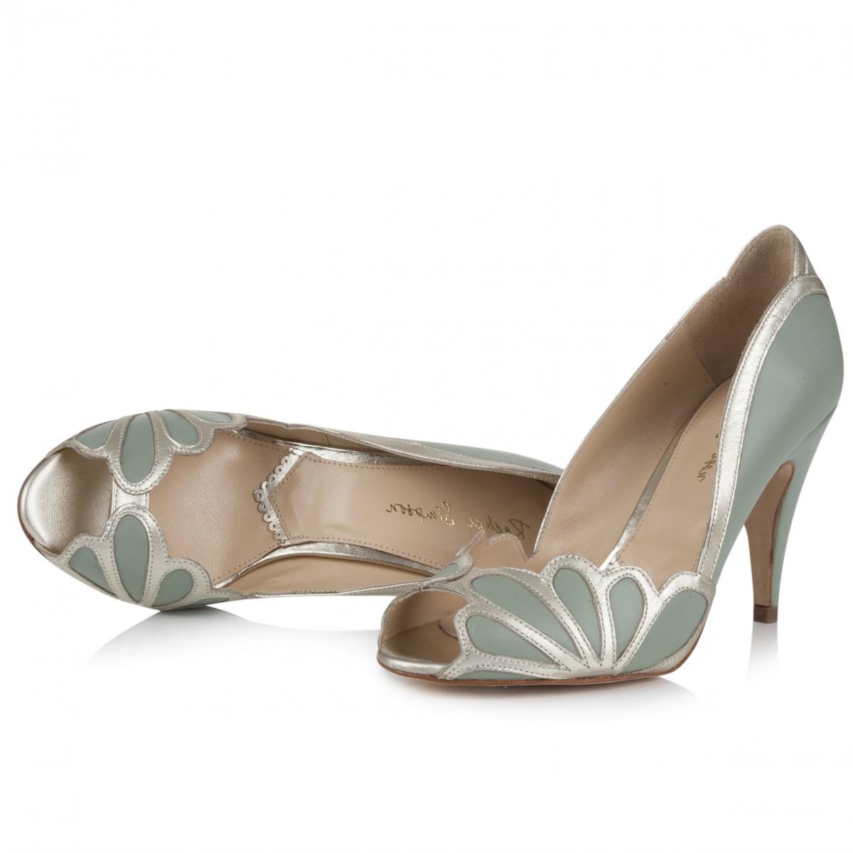 Wedding shoes - Isabelle mint by Rachel Simpson