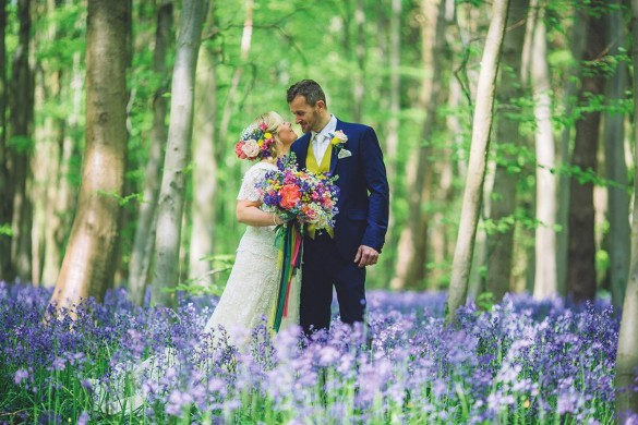 A glorious, colour-pop woodland wedding
