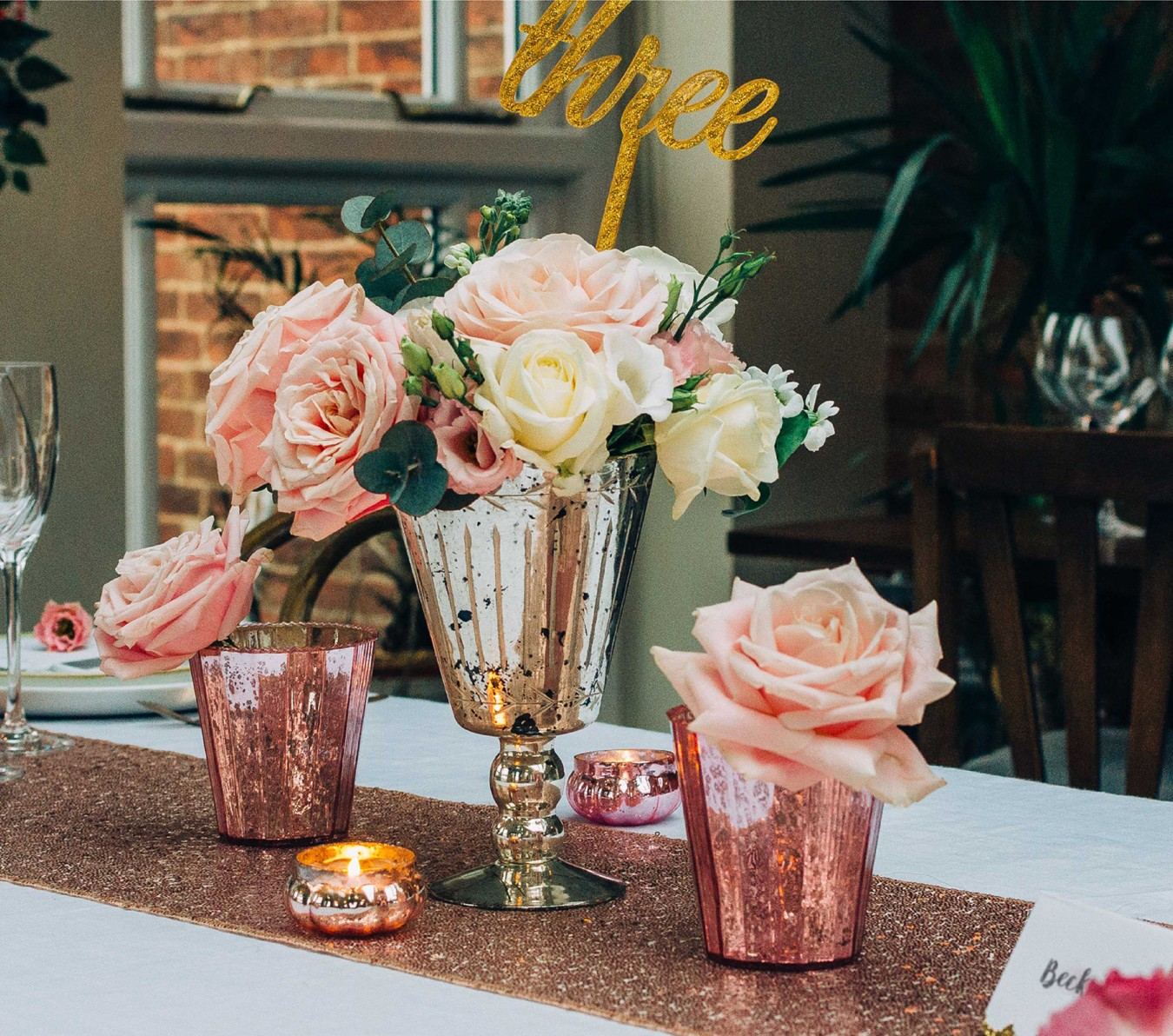 styleboxe Rose Pinks Wedding Table Decor
