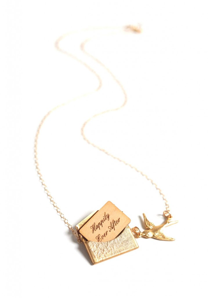£60.17 Gold Personalised Love Letter Necklace by Maria Allen Boutique on DaWanda.com