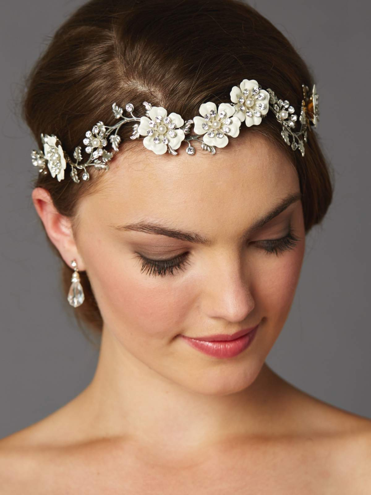 Autumn silver headband