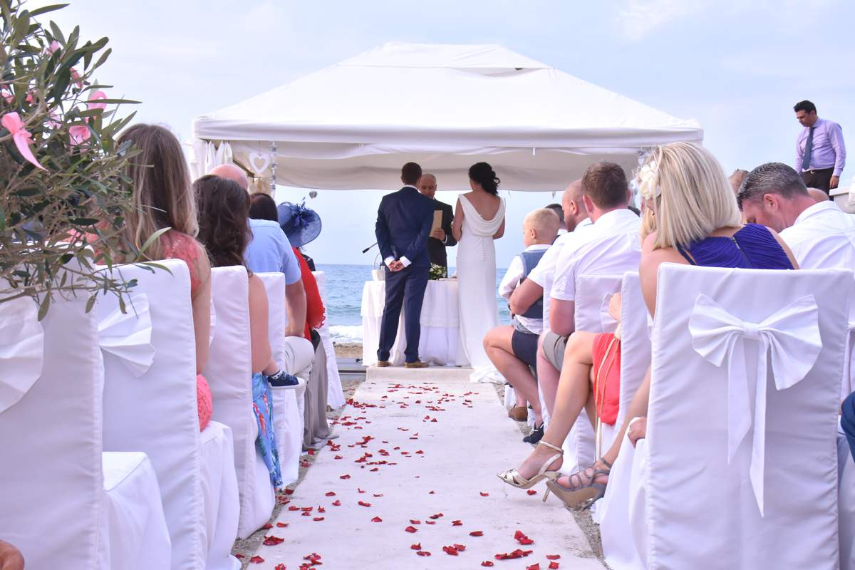 A Gorgeously Grecian Real Wedding Abroad Love Our Wedding
