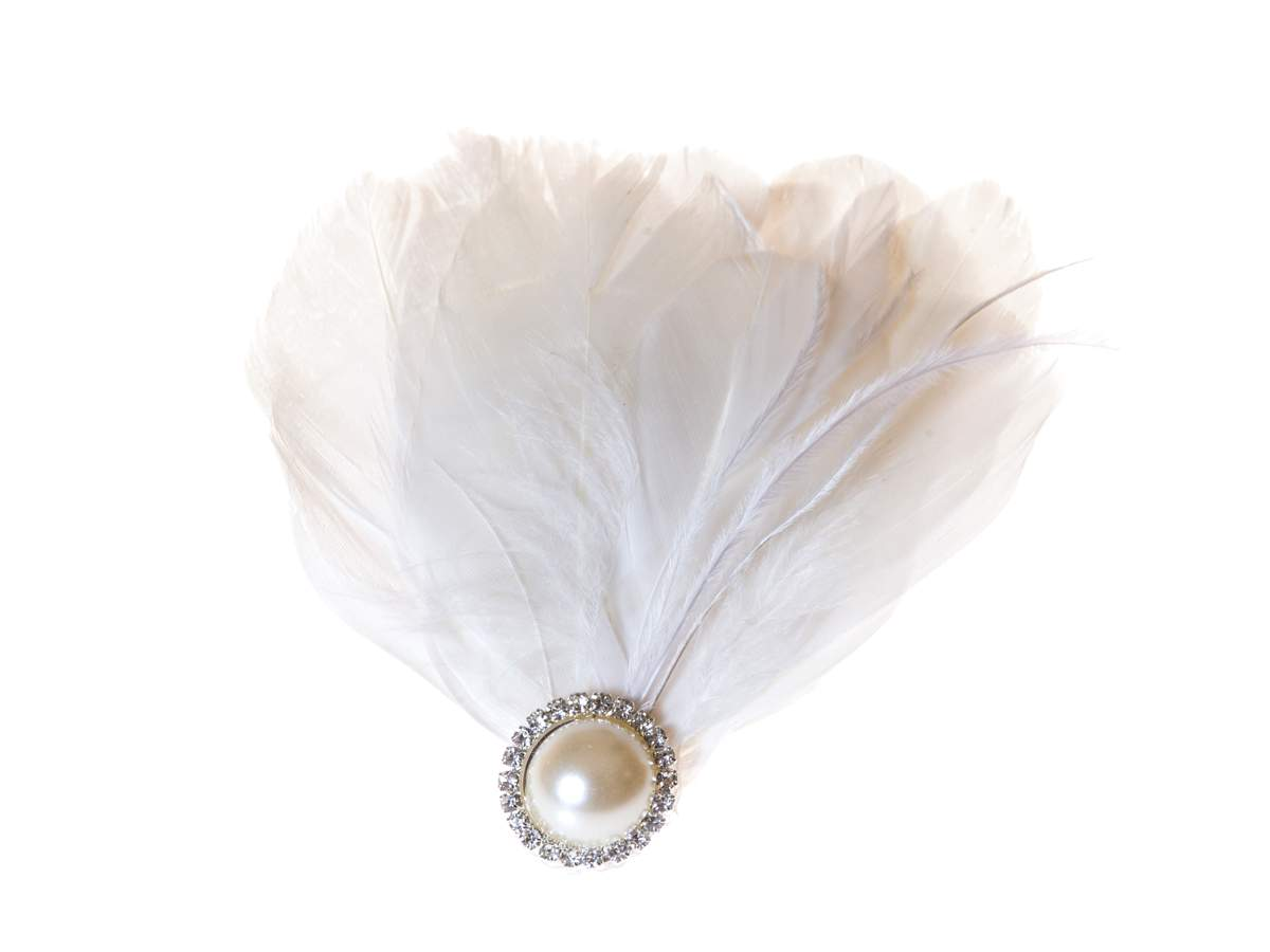 Pearl feather hairpiece, Lily Bella, £40.00