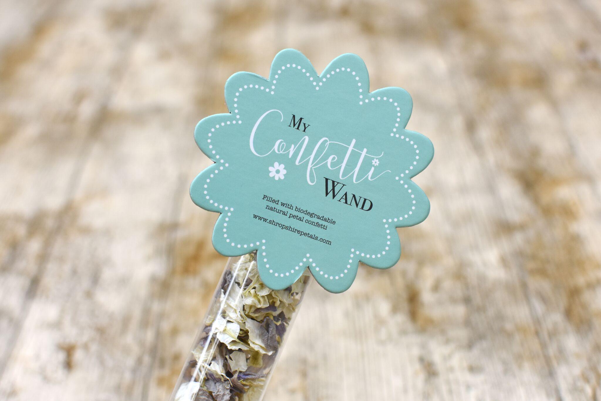 ShropshirePetals.com Flower Confetti Wand £3.50 each (3)