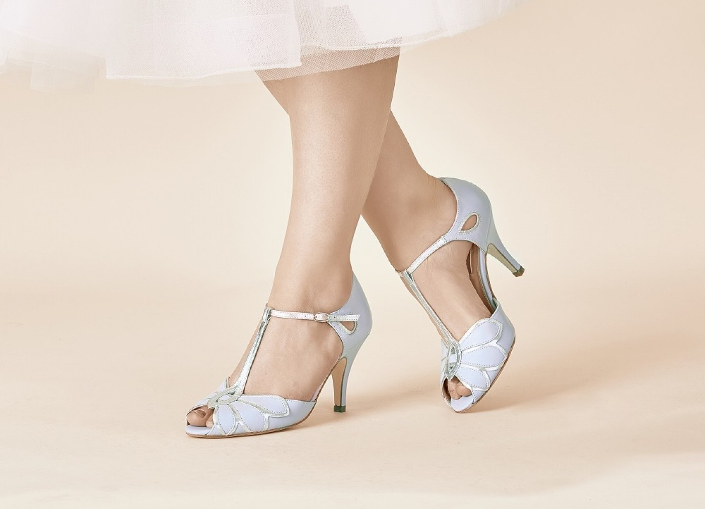 Blue wedding shoes for colourful brides love our wedding a colourful shoe looks fantastic with a white or ivory dress so why not make your bridal heels your something blue here are seven pairs of blue wedding junglespirit Image collections