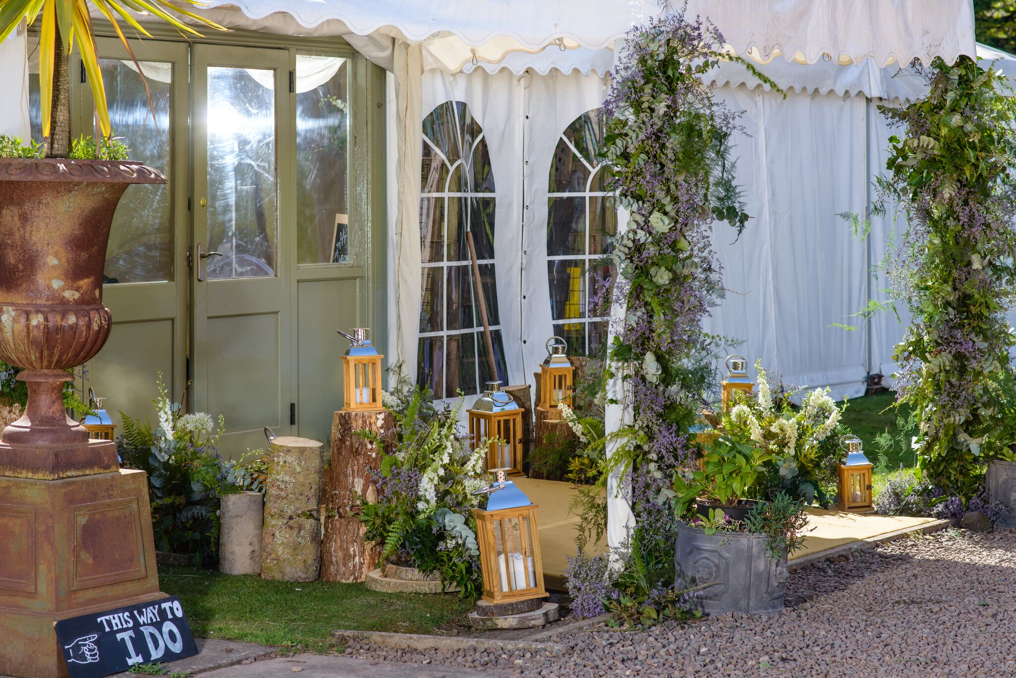 Get-Knotted.net Wedding at Broxmouth Park - Marquee entrance (image credit - kevingreenfield.com) £POA (4)