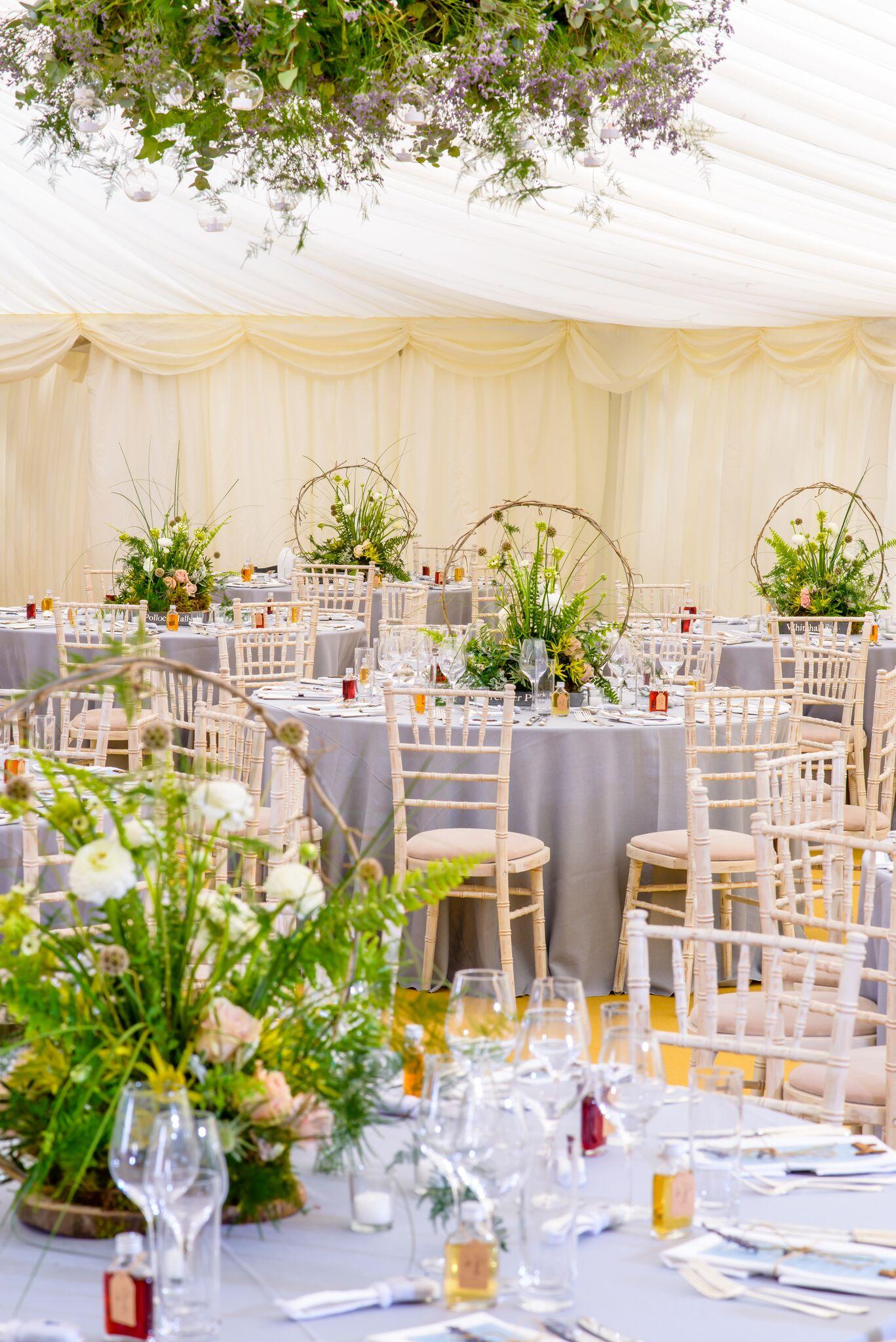 Get-Knotted.net Wedding at Broxmouth Park - Table set up (image credit - kevingreenfield.com) (2)