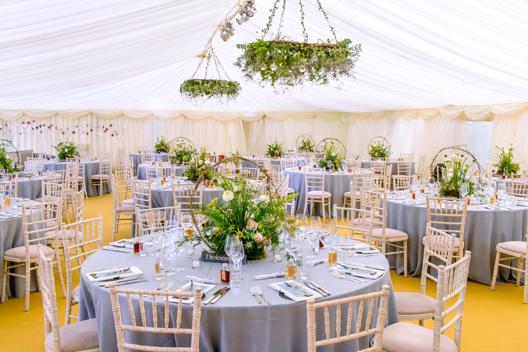 The great outdoors we love a nature theme love our wedding get knotted wedding at broxmouth park table set up image credit junglespirit Images