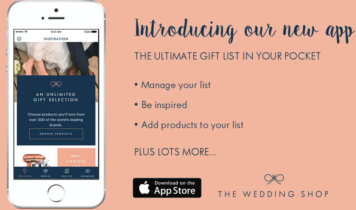 the uk s first gift list app love our wedding