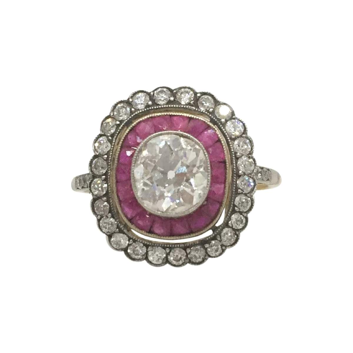 antique Edwardian diamond and ruby, Open for Vintage