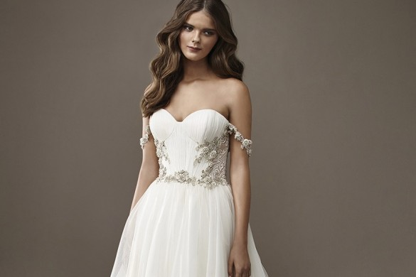 BM tulle wedding dresses
