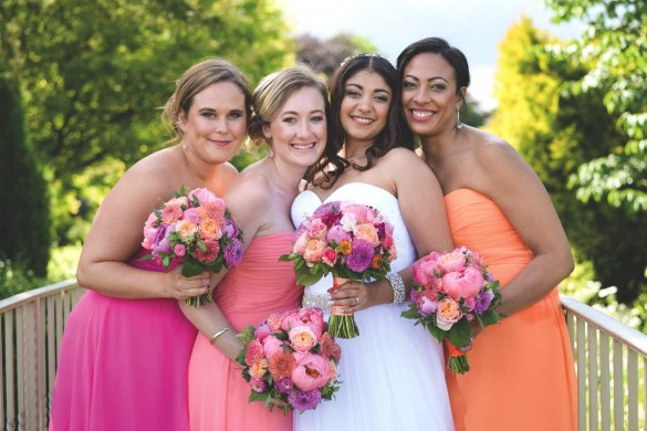 A rustic real wedding with colour bursts!