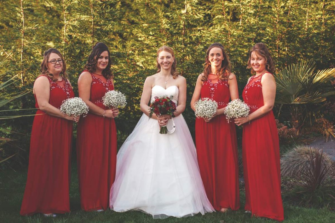 Winter wonderland wedding bridesmaid dresses wedding dresses this christmas wedding had plenty of heart warming cheer and a sprinkling of magic real bride ombrellifo Gallery