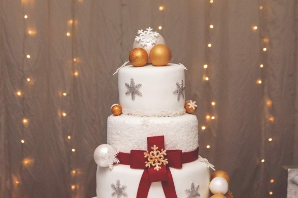A real winter wonderland wedding…