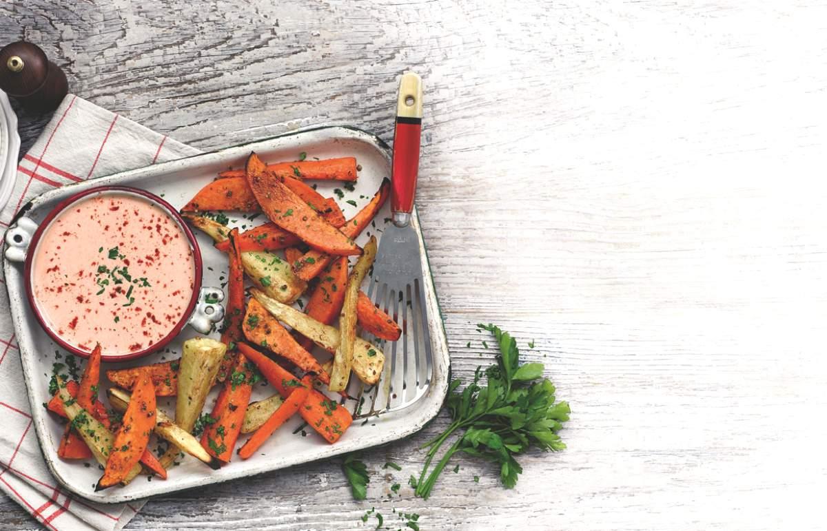 Roasted Root Wedges & Paprika Dip NEW_VEG