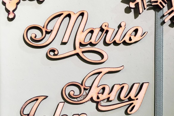 Etch'd Wedding Wooden Place Names Wood