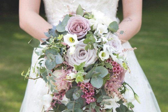 A beautiful real wedding in summer bloom…