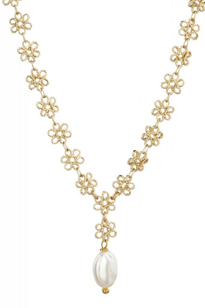 Mirabelle Jewellery High res filigree pearl necklace
