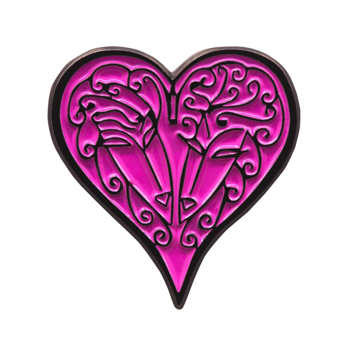 Pink Heart Pin Badge Designed by Dame Zandra Rhodes