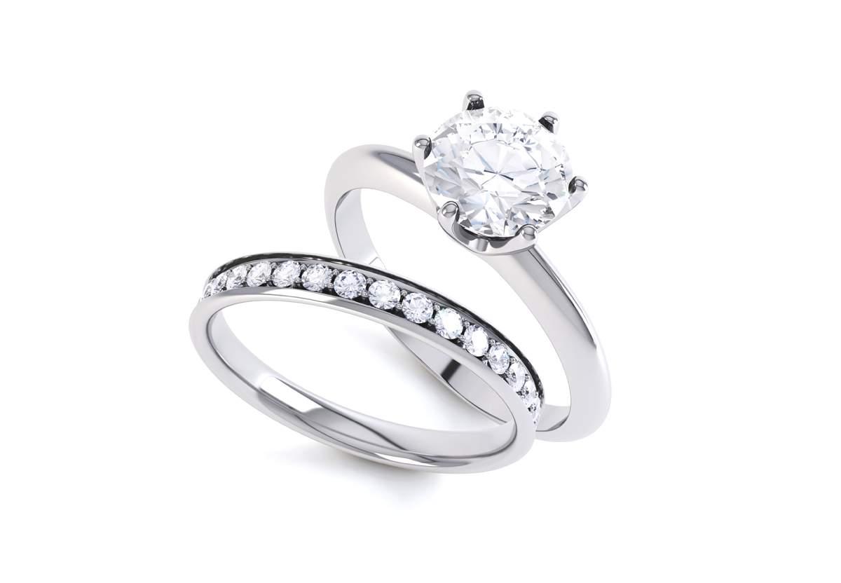 White gold ring set_s