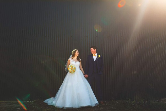 A sun-kissed yellow real wedding…