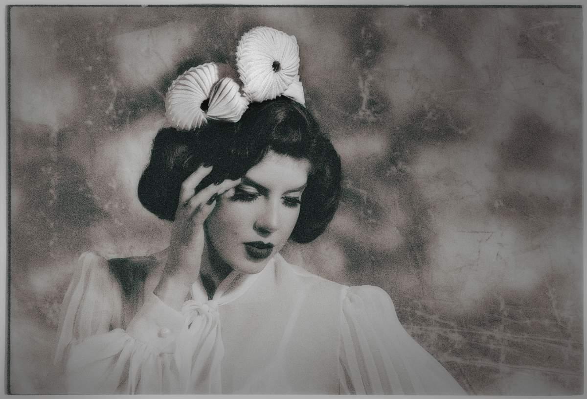 Jean_3_Glamorous Hats 2018 Bridal Collection_Photographer Oleg Micheyev_Model Miss Cherry on Fire