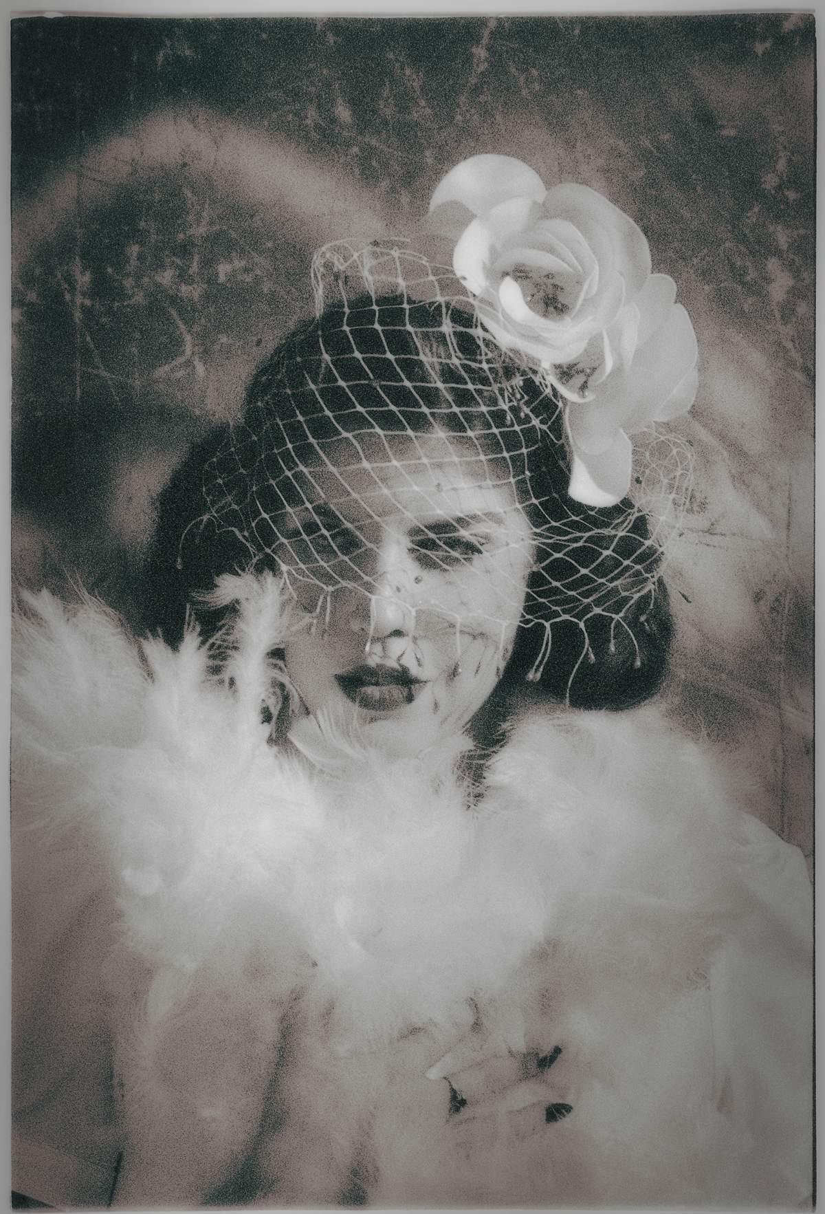 Mina_Glamorous Hats 2018 Bridal Collection_Photographer Oleg Micheyev_Model Miss Cherry on Fire