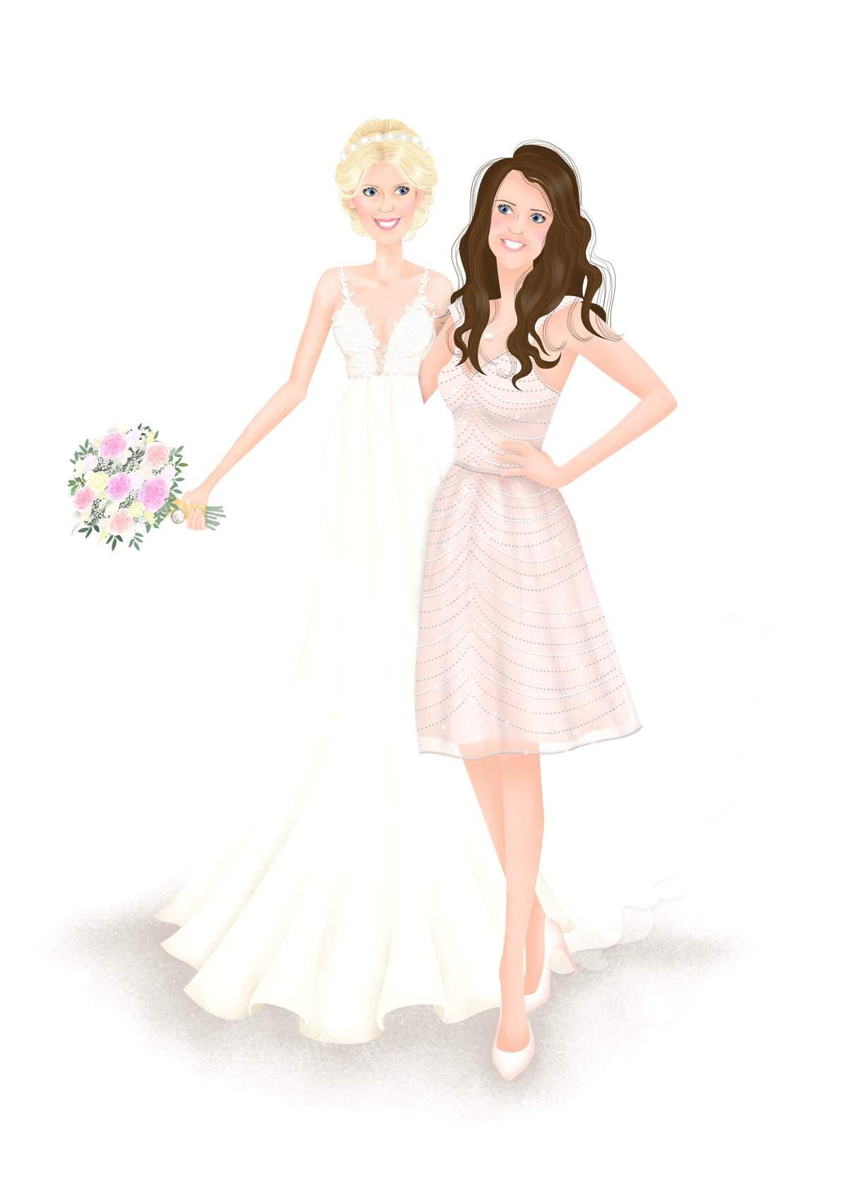 BRIDE AND BRIDESMAID ARTWORK - A4