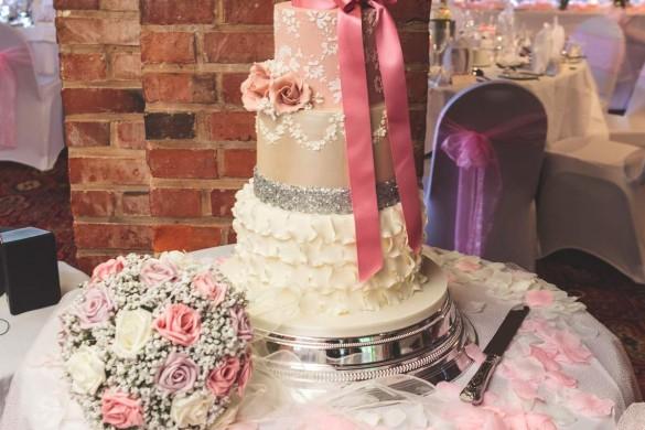A blush-pink real wedding…