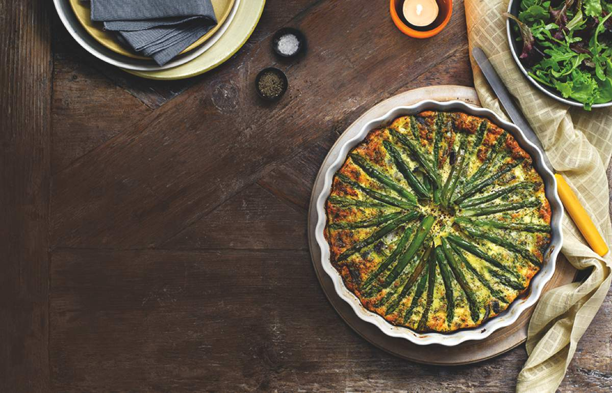 Asparagus & Red Onion Quiche