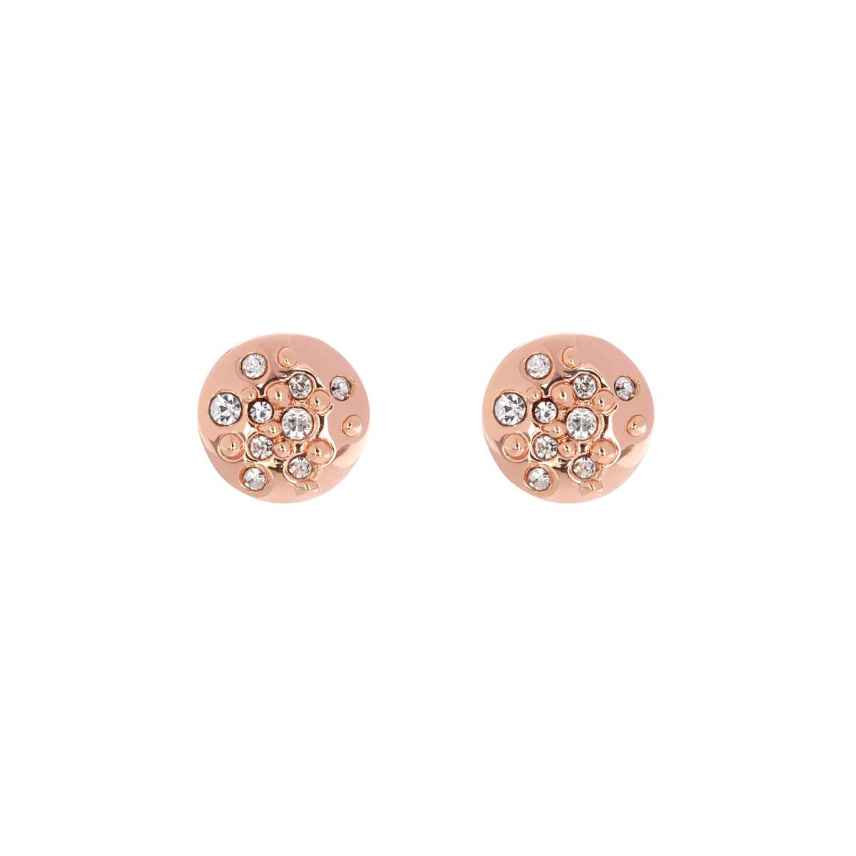 KMJ562-24-02 CRYSTAL SPRINKLE STUD EARRINGS - ROSE GOLD CRYSTAL