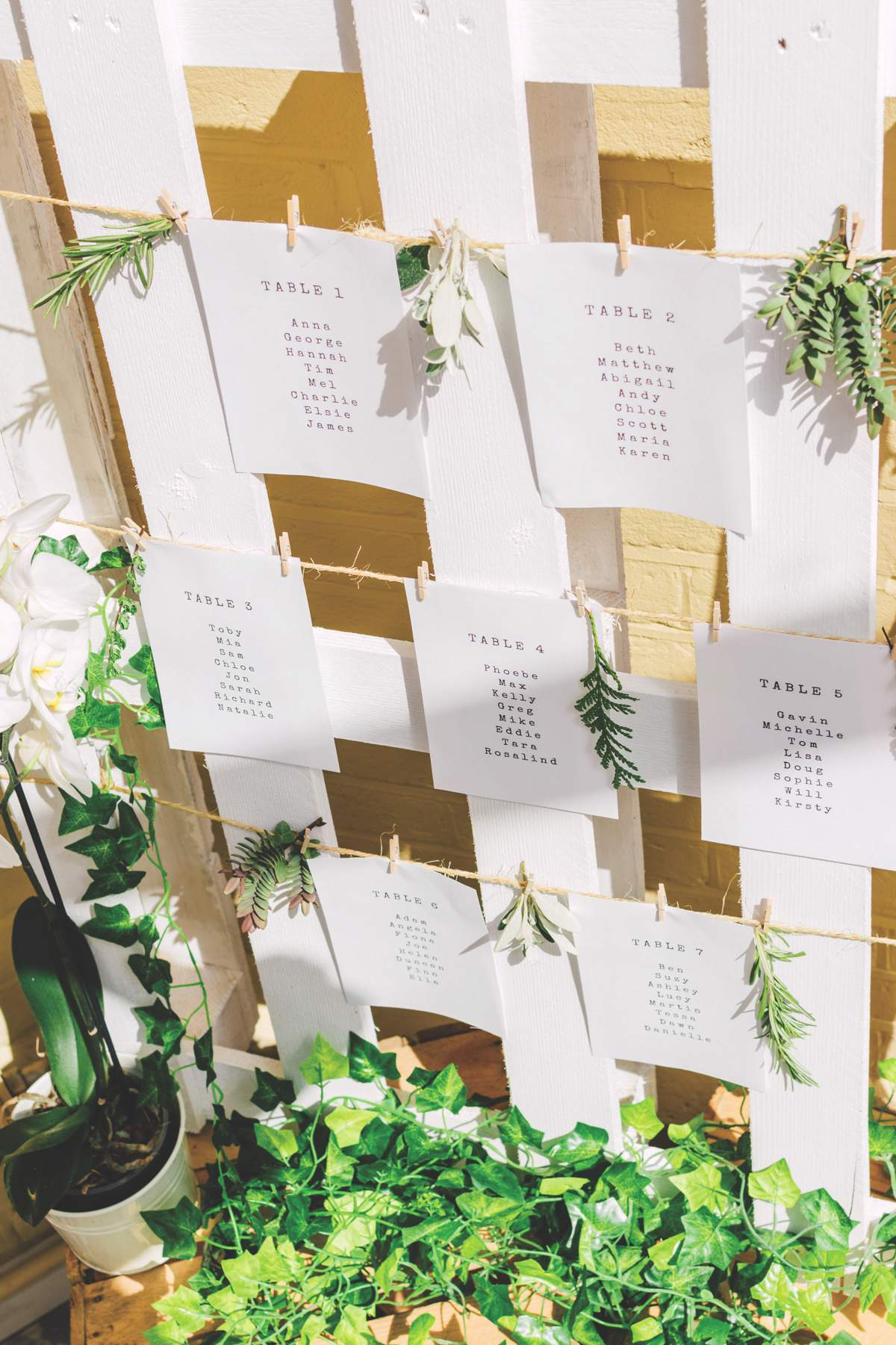 botanical wedding theme