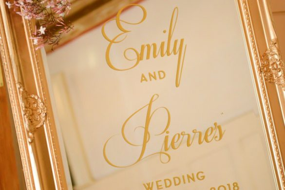 A glamorous and elegant wedding