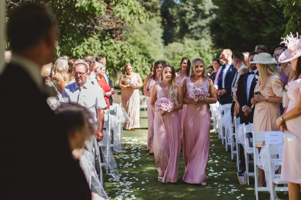 A blush pink summer wedding