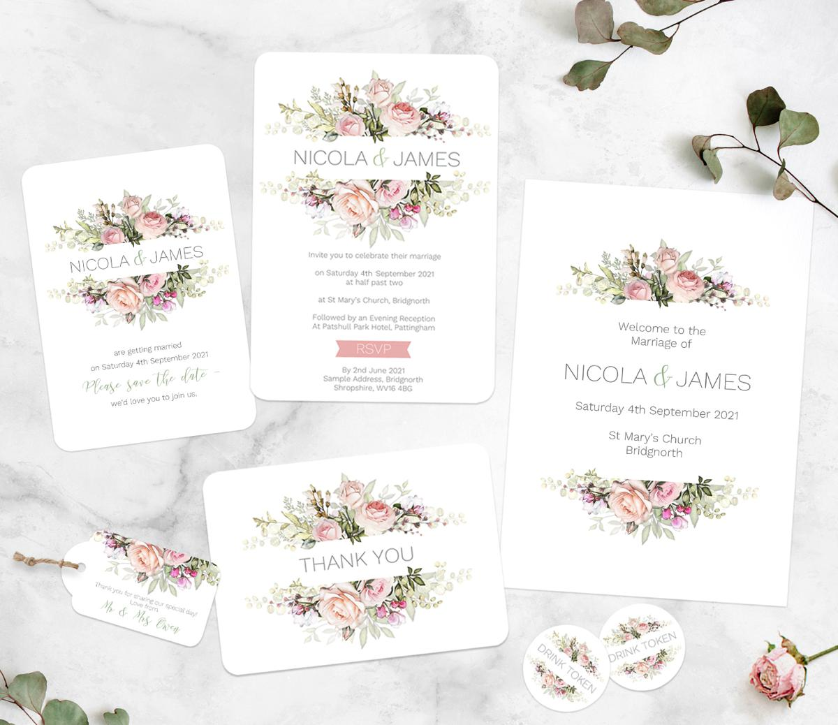 whsmith wedding stationery