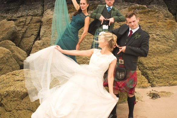 A gorgeous  Highland wedding