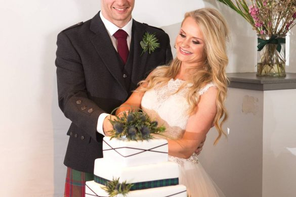 A gorgeous  Highland wedding