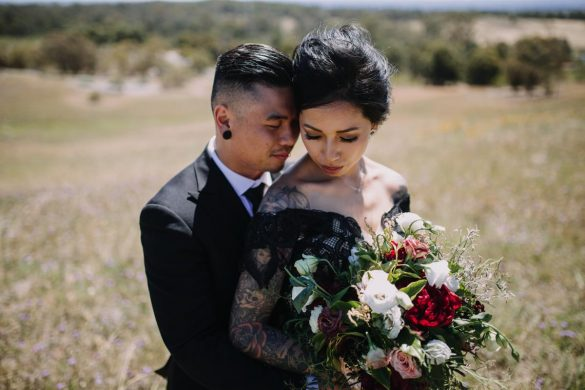 A gorgeous Gothic wedding theme