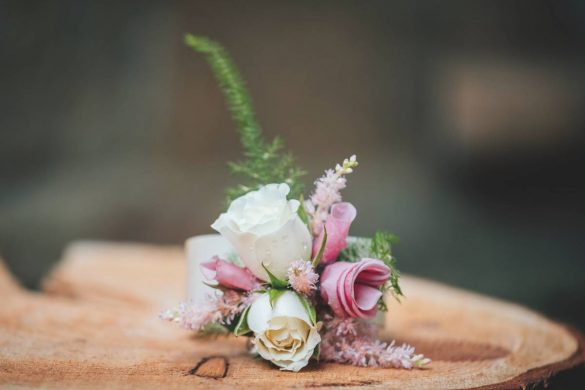 A rustic springtime wedding