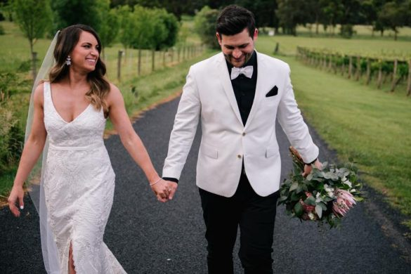 A romantic winery wedding