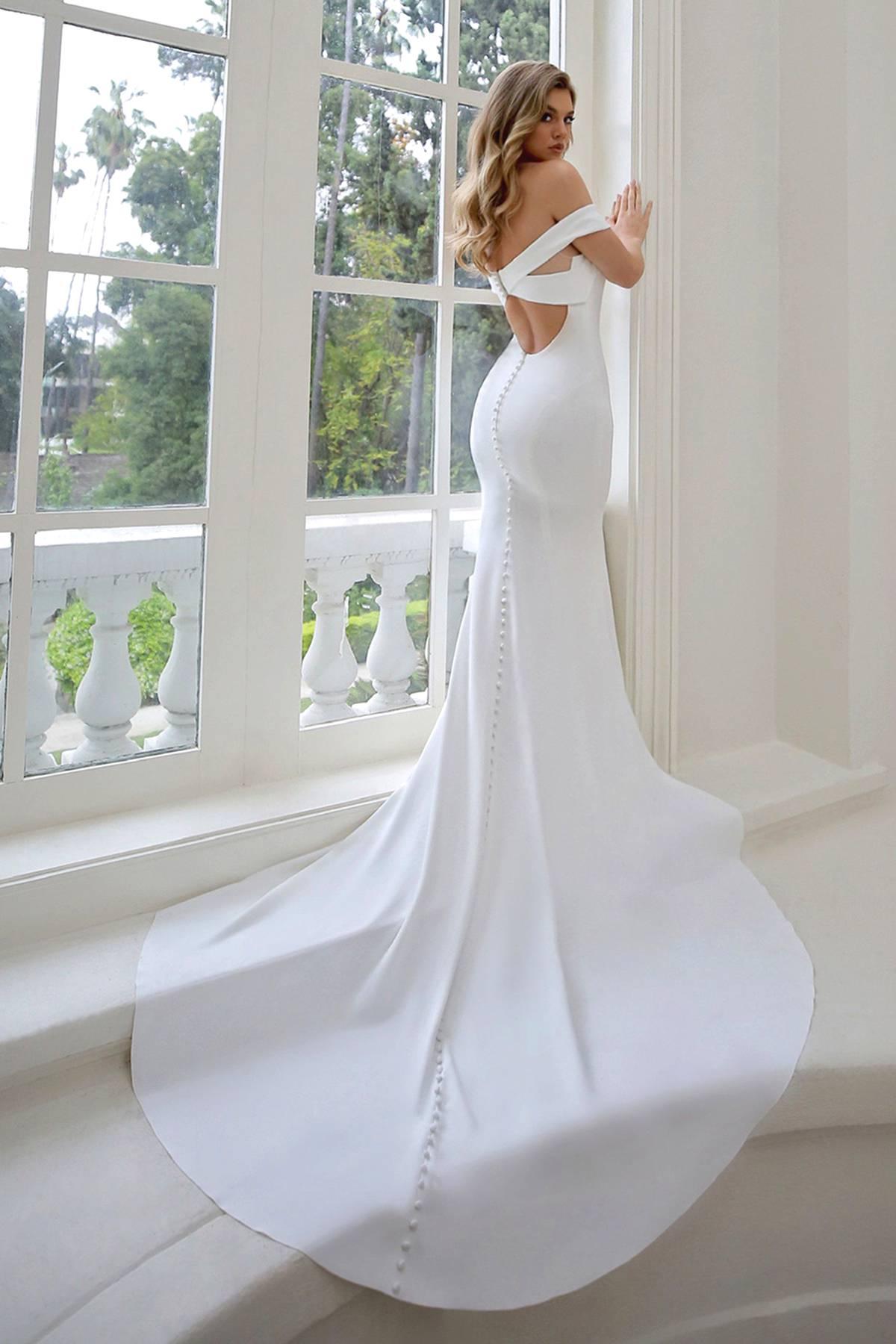 off-shoulder wedding dresses